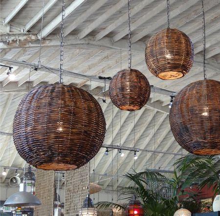Rattan Globe Lanterns Mix Furniture Outdoor Hanging Lanterns Outdoor Wall Lighting Sideboard Furniture