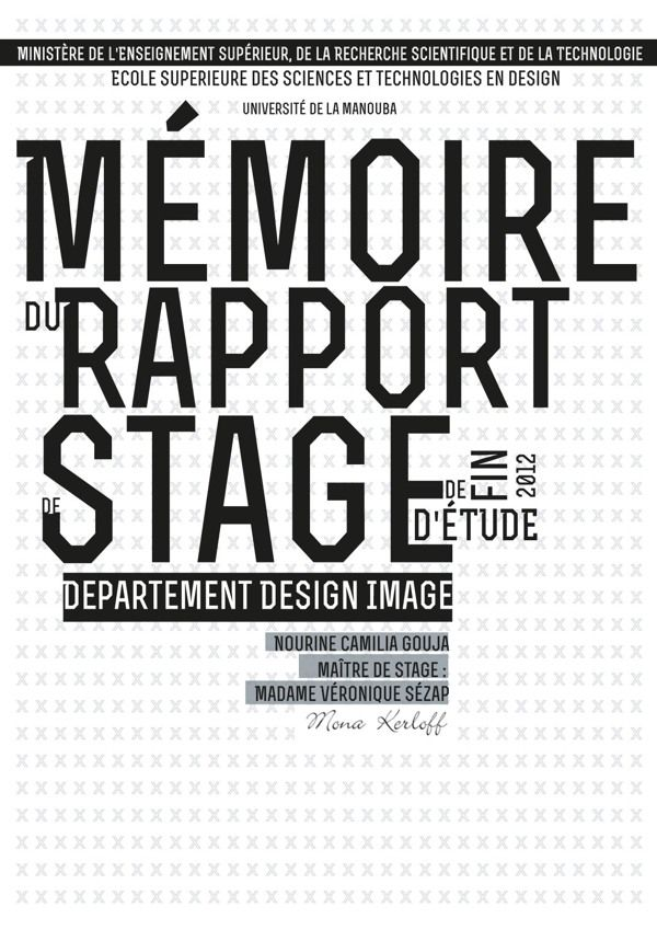 rapport de stage mise en page on behance