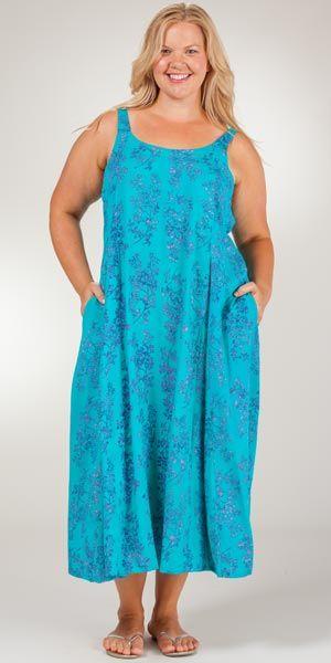 Plus Sleeveless Eagle Ray Traders Tie Back Long Dress Tropic Whisper Clothes Long Dress Dresses