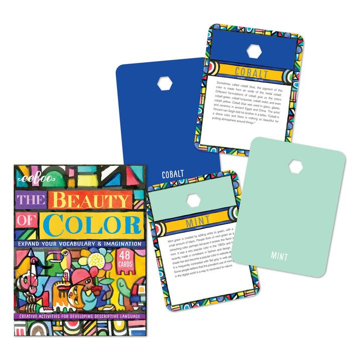 beauty of color flash cards  flashcards minted cards