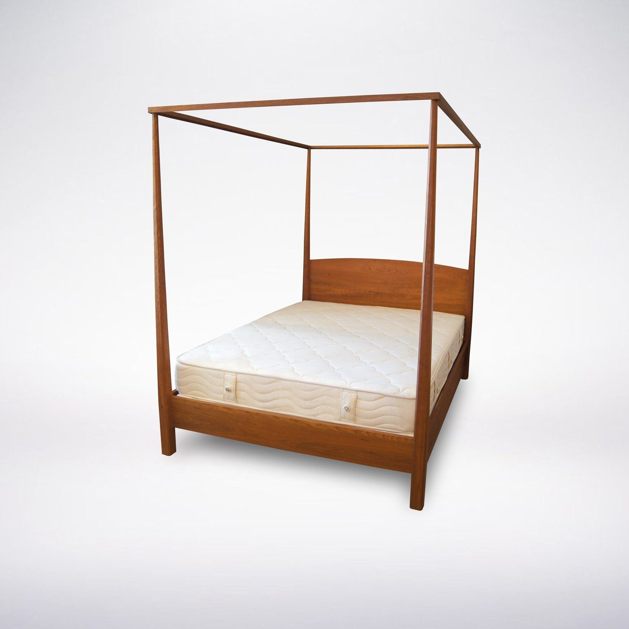 Shaker Pencil Post Bed Solid Wood Products Wood Canopy Bed