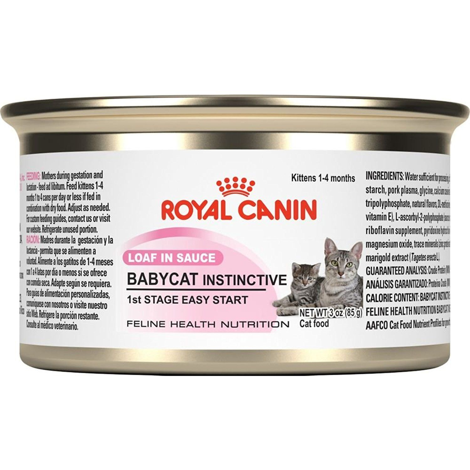 Royal Canin Feline Health Nutrition Babycat Instinctive Loaf In Sauce Canned Cat Food You Can Find More Det Canned Cat Food Kitten Food Feline Health