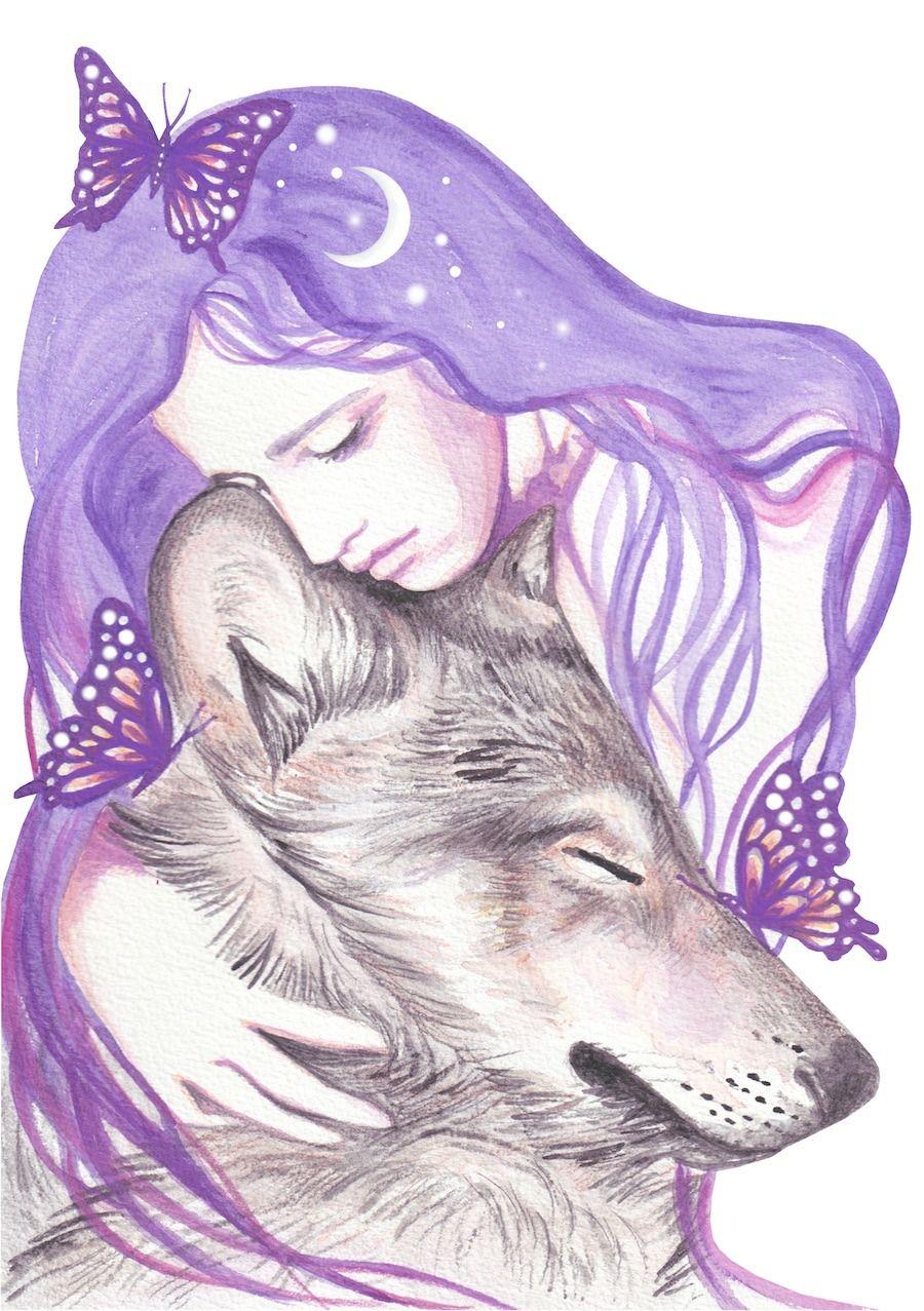 Andrea Hrnjak Wolf Spirit Animal Animal Drawings Animal Art