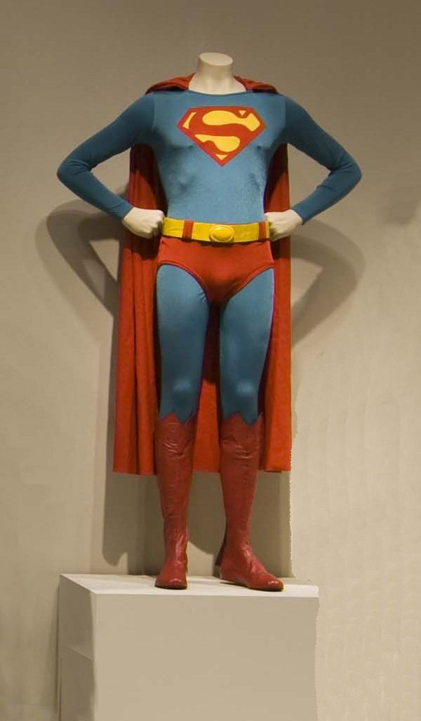 """Christopher Reeves, """"Superman IV,"""" Cannon, 1947, Designed by John Bloomfield The Collection of Motion Picture Costume Design: Larry McQueen"""
