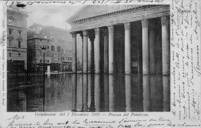 ROMA  piena del Tevere (2 dicembre 1900)