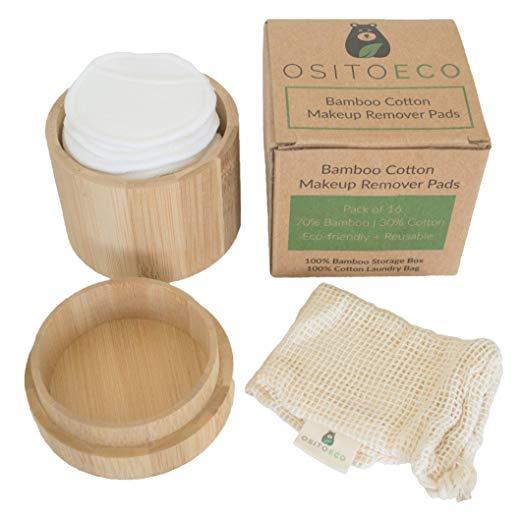 Reusable Bamboo Cotton Makeup Remover Pads (16