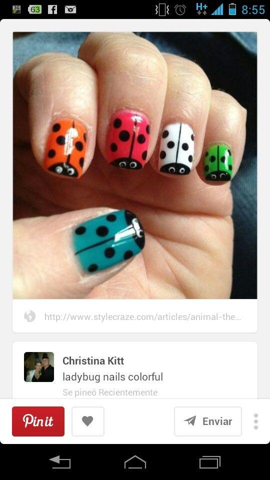 Catarinas | uñas | Pinterest