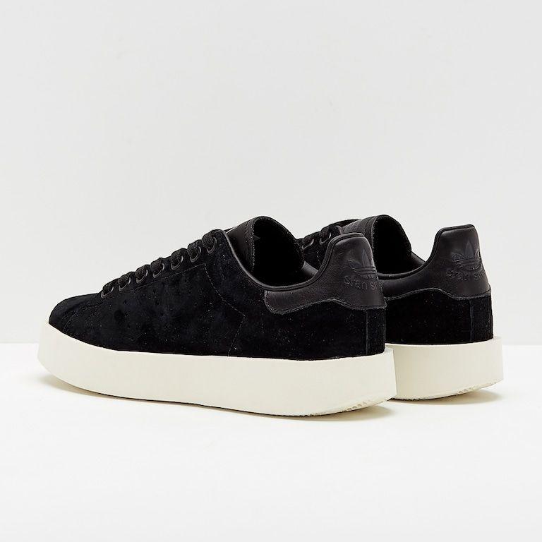 new styles ea6b9 471e8 adidas Originals Womens Stan Smith Bold - Black