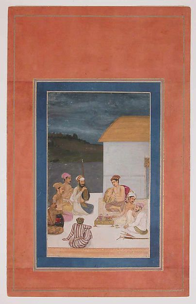 Prince Parviz, son of Jahangir, with his Courtiers and Musicians