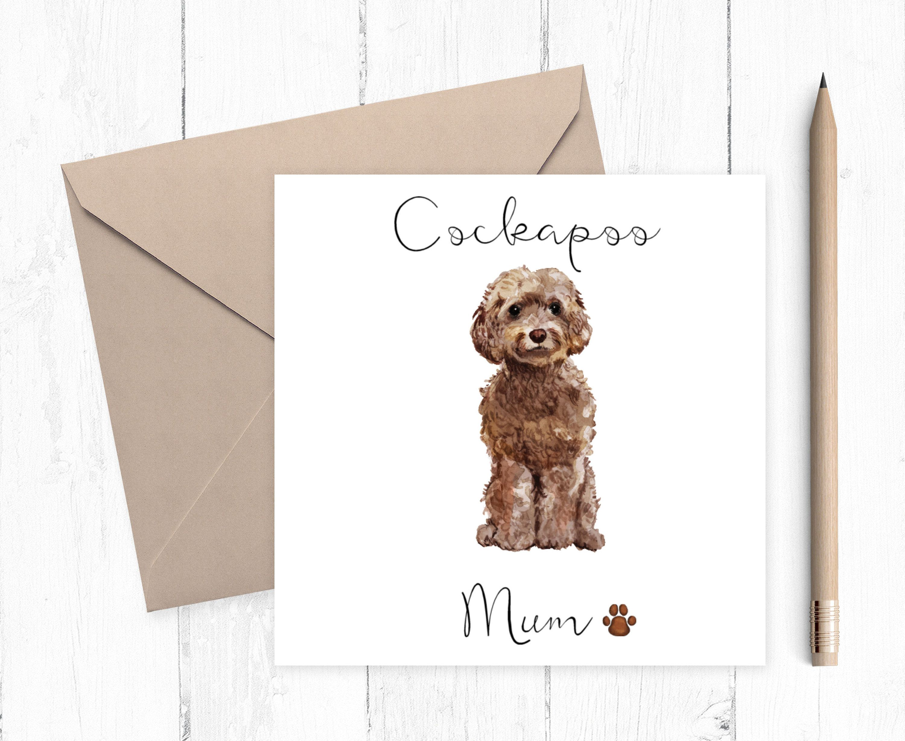 Cockapoo mum card ideal gift for mothers day in 2020