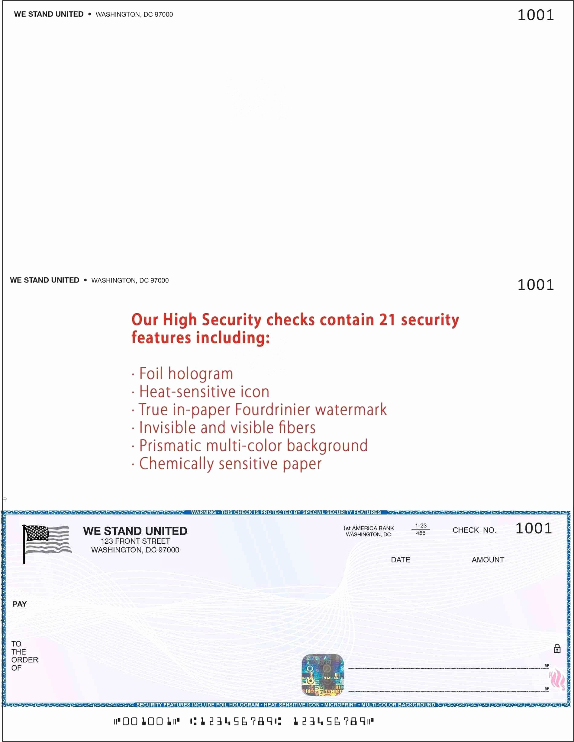 Free Business Check Printing Template in 2020 Roofing