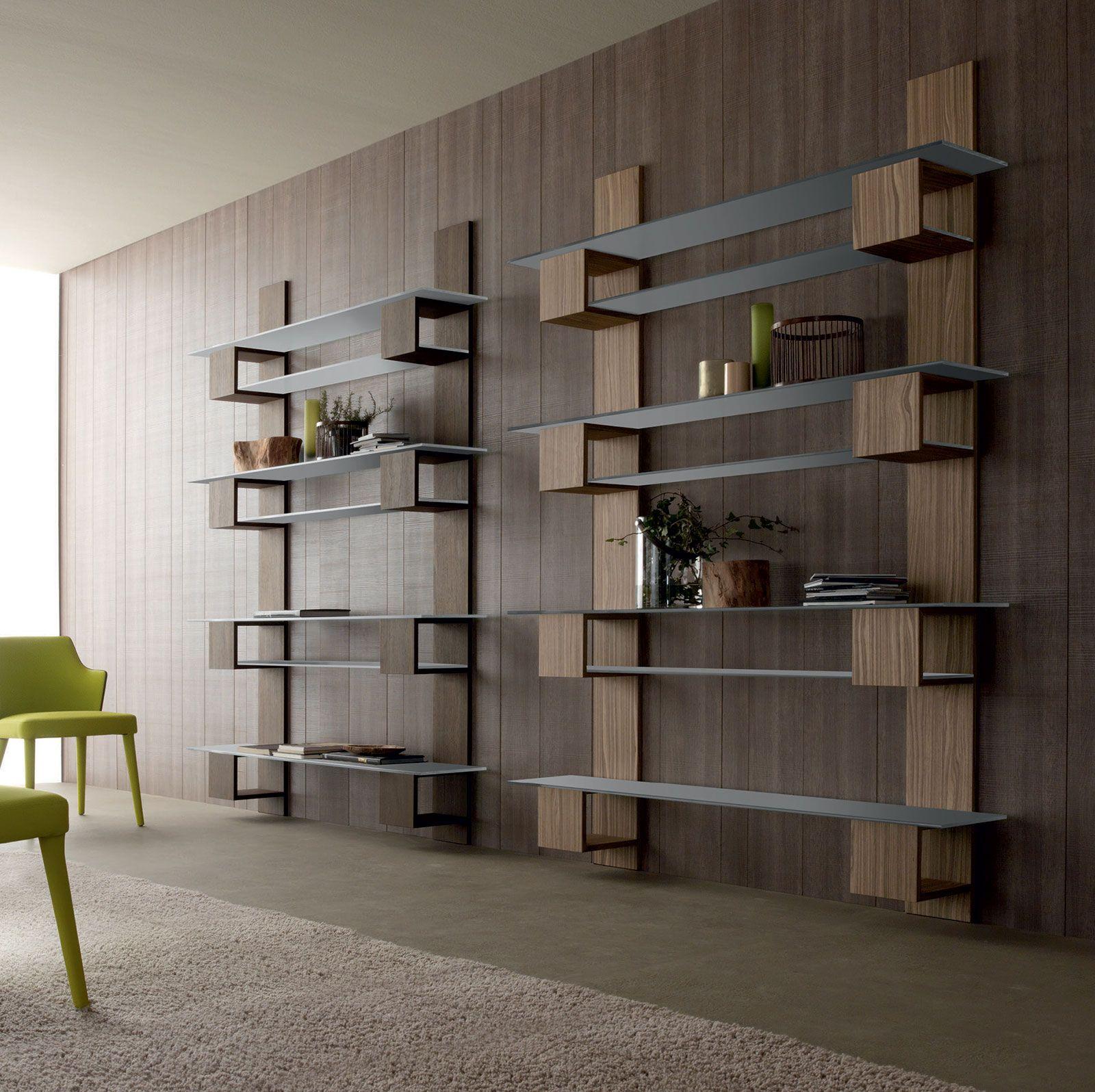 infinity meuble bibliothèque mural à étagères | bibliothèque murale