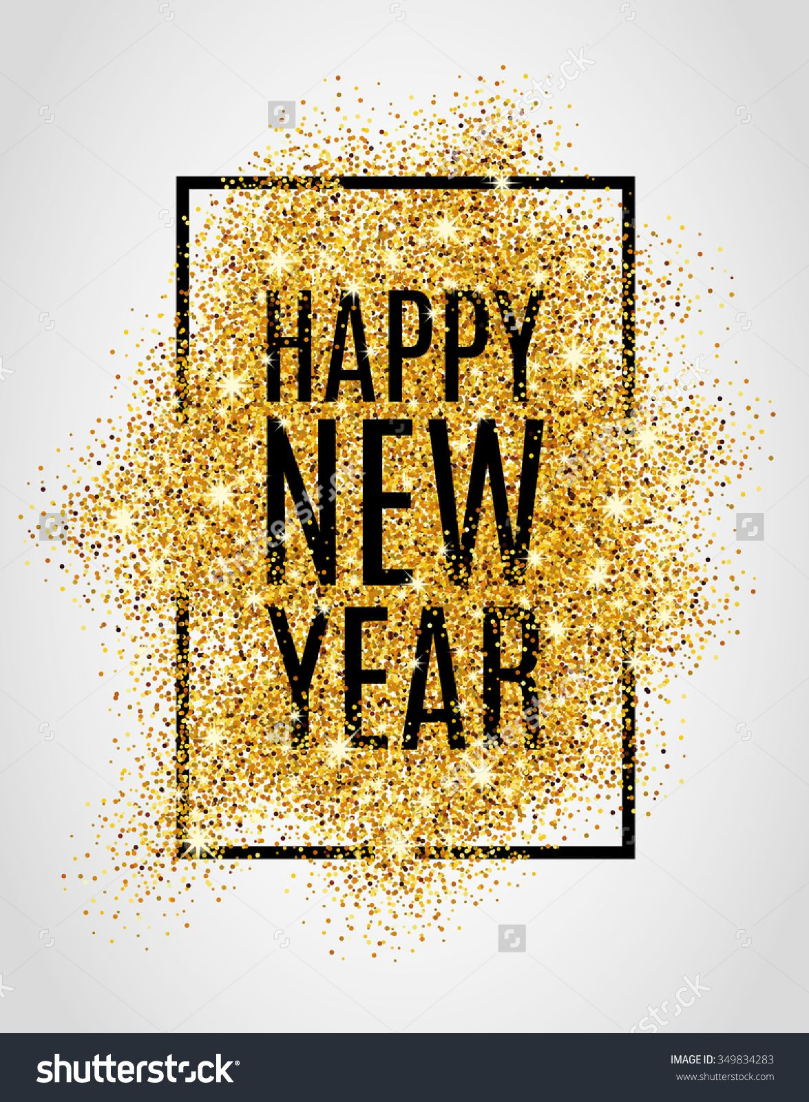 happy new year gold glitter new year gold background for flyer poster sign