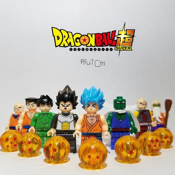 Collection Goku Burdock Gogeta Vegeta Lego MOC 4 Pcs Dragon Ball Minifigures