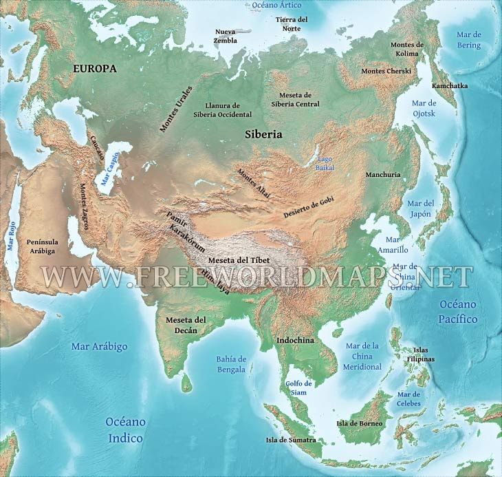 Mapa Asia  Mapas polticos  Pinterest
