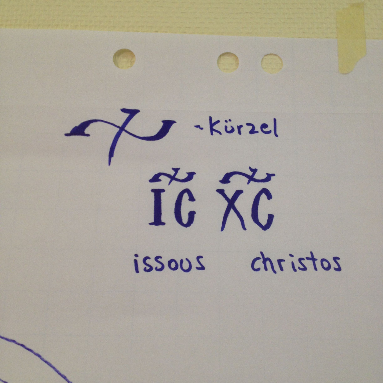 Greek Abbreviation For Jesus Christ Lettering Christ Iconography