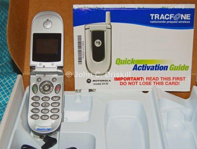 Motorola V170 - Silver (TracFone) Cellular Phone #Motorola