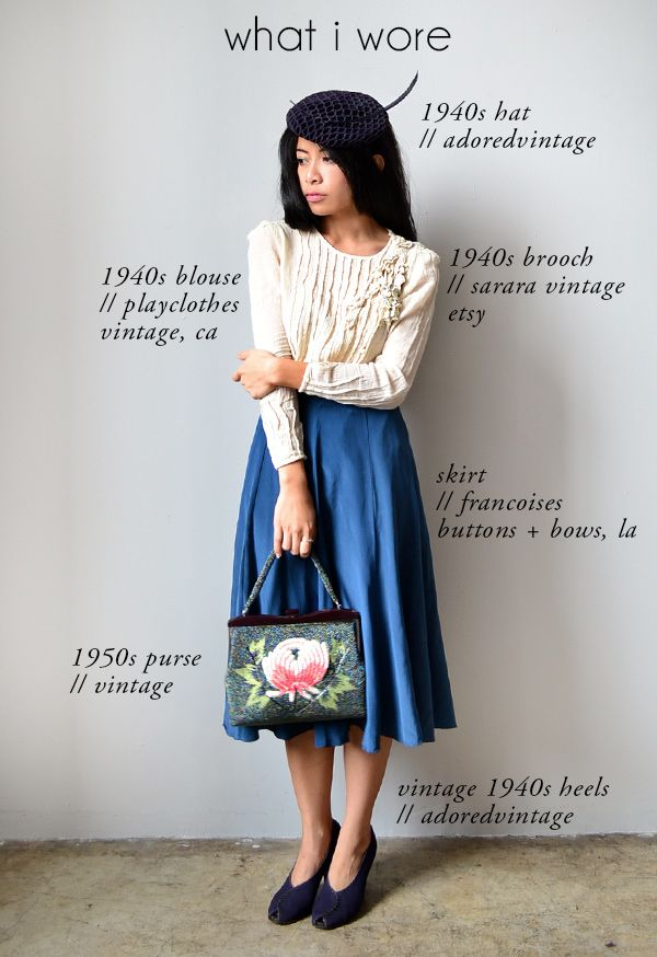 Vintage Inspired Outfit Modern Day 1940s