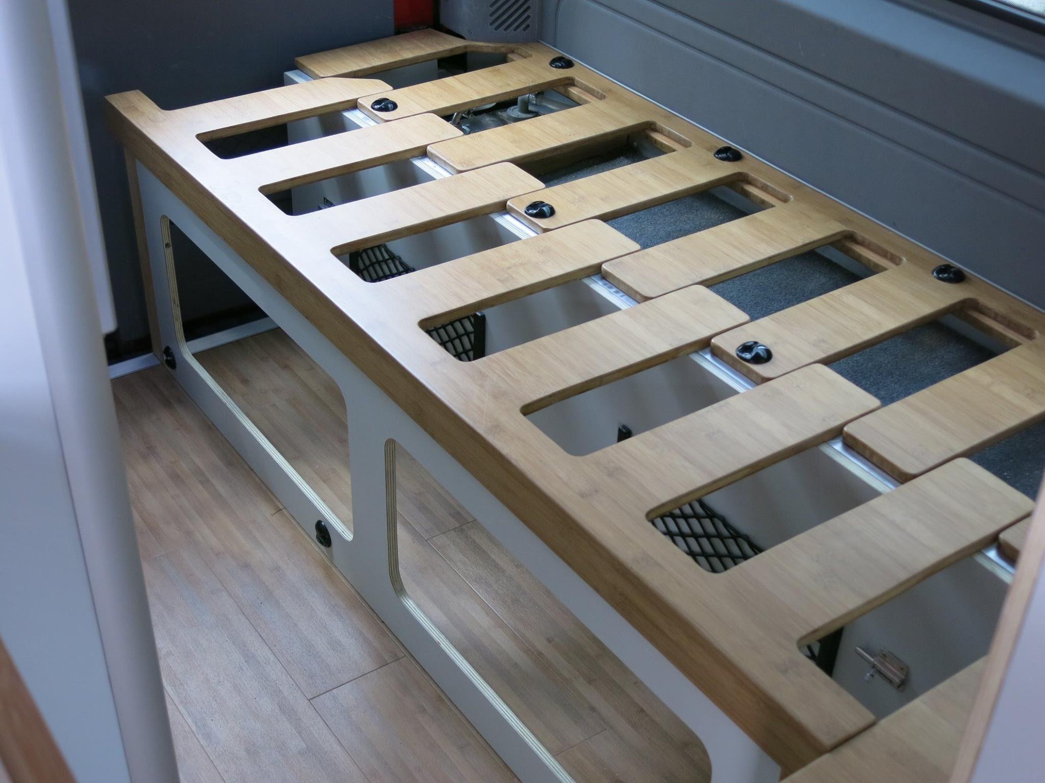 Bett Ausziehbar Innenverkleidung Kastenwagen In Wohnmobil Umbau