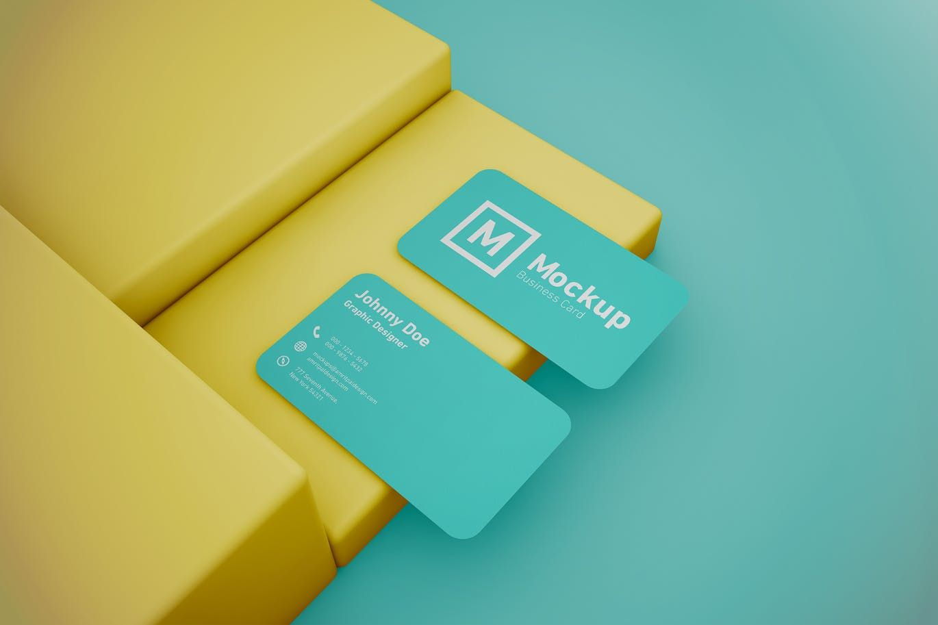 Rounded Corner Business Card Mockup Business Card Mock Up Round Business Cards Premium Business Cards