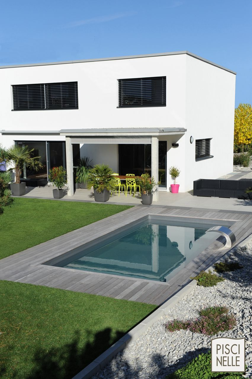 Piscine enterr e les piscines enterr es en kit par piscinelle backyard plunge pool ideas - Piscine enterree en kit ...