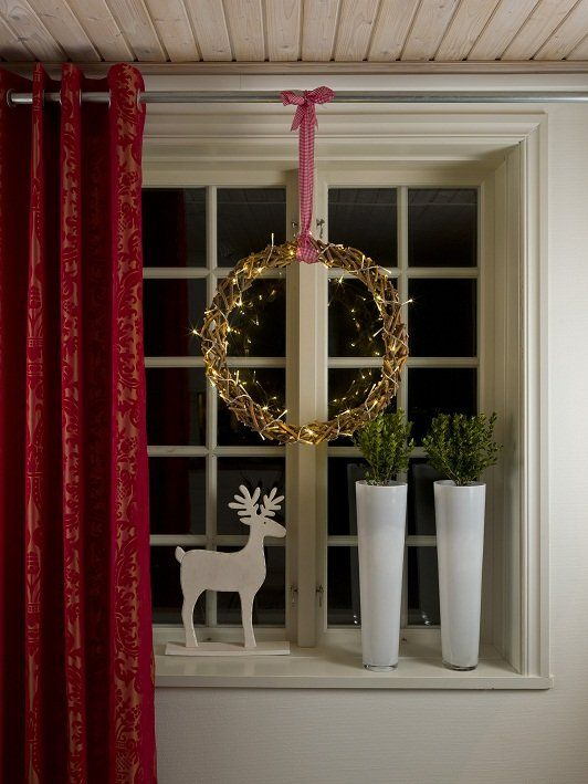 leuke versiertip een led silhouet gevlochten kerstkrans inclusief verlichting ophangen voor uw raam