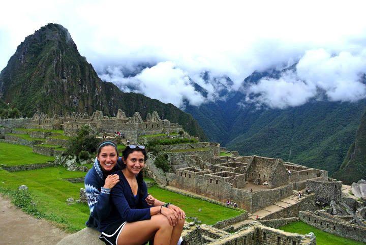 Christen Press and her sister in Machu Picchu, Peru