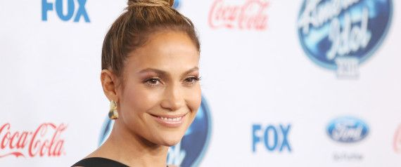 Jennifer Lopez Rocks A Little Black Dress At 'American Idol' Party