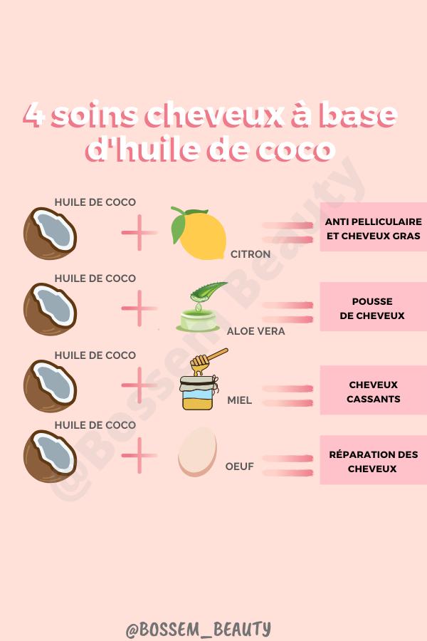 Prenez soin de vos cheveux avec ces 4 recettes de masques pour cheveux à base d'huile de coco 🌴🌟