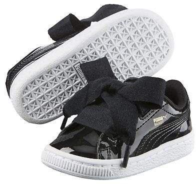 3c45d4e1c Puma Basket Heart Patent Infant Kids  Sneakers Girls Low Boot Kids ...