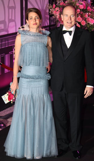 CHARLOTTE CASIRAGHI IN BLUE CHANEL HAUTE COUTURE WITH HER UNCLE ...
