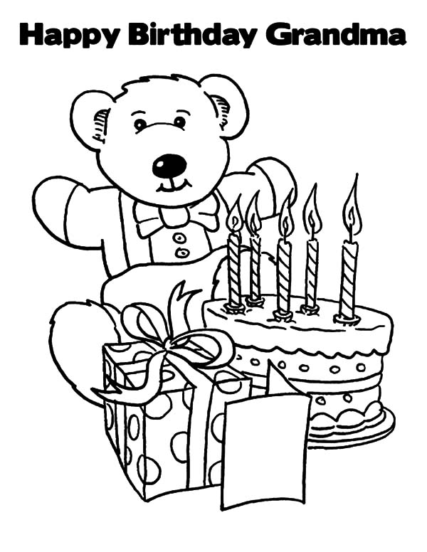 Happy Birthday Grandma Coloring Pages Best Place To Color Happy Birthday Coloring Pages Happy Birthday Grandma Birthday Coloring Pages