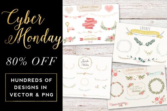 80% Off Cyber Monday Graphic Bundle by Summit Avenue on Creative Market