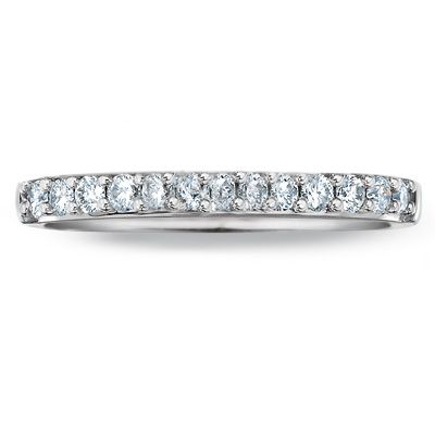 T W Colorless Diamond Wedding Band In 18k White Gold Zales