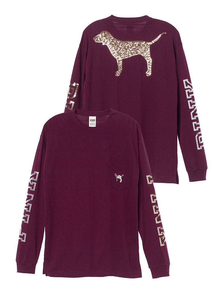 f710571c70c75 Long Sleeve Campus Tee - PINK - Victoria's Secret | P I N K in 2019 ...