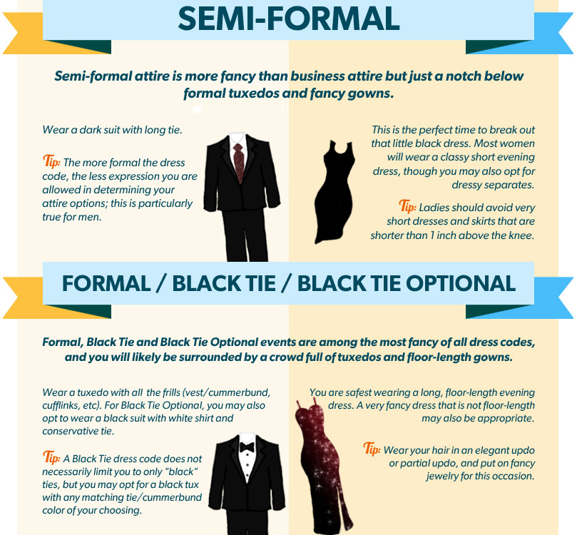 Formal or semi formal attire my favorite things for Formal dress code wedding