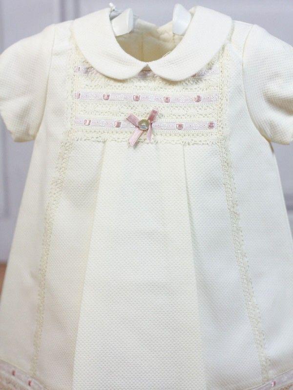 acfef1529e1 Vestido crudo pasacinta rosa palo Paz Rodriguez - Ropa de bebés - Les bébés