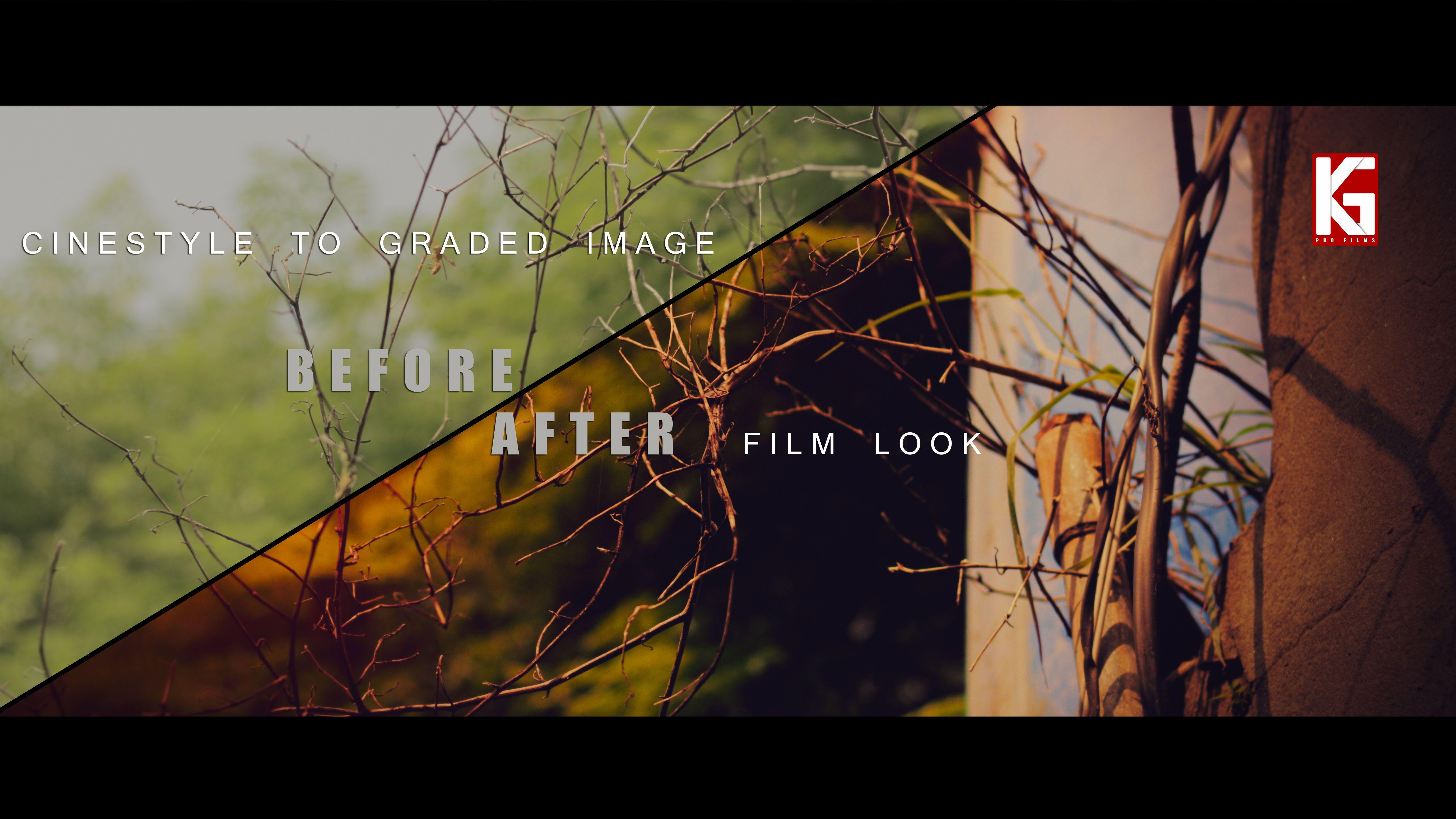 cinestyle to graded image | cinematic film look | Desktop screenshot