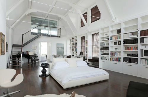 What A Huge Bedroom Loft Interior Design Modern Bedroom Design