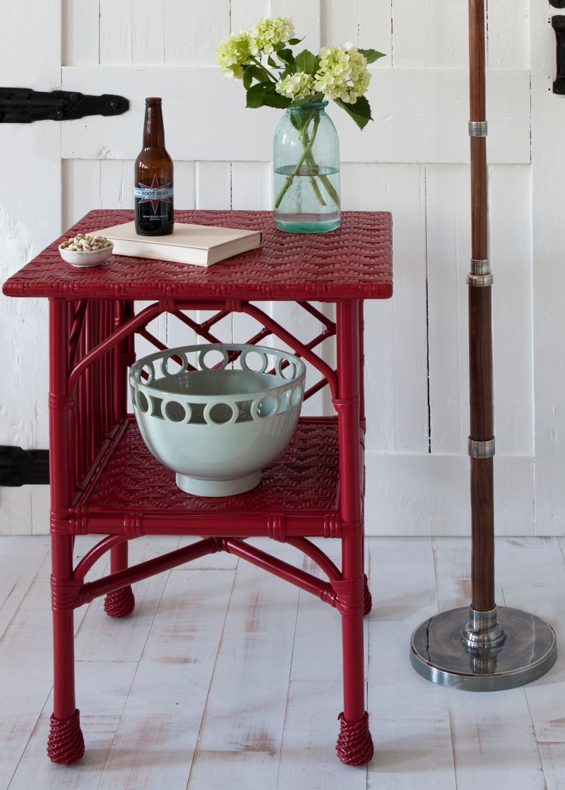 Wicker by Maine Cottage | Grace Side Table #mainecottage