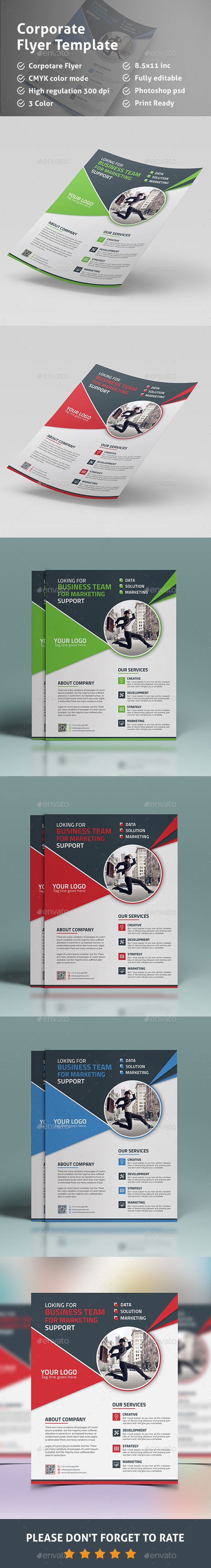 Flyer Template PSD #design Download: http://graphicriver.net/item ...