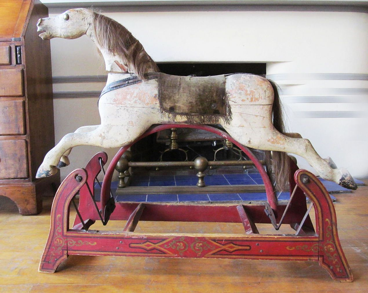 Late 1800s Antique Vintage Glider Wood Hobby Horse By Whitney Reed From Research It Appears That The Whitne Antique Rocking Horse Hobby Horse Rocking Horse