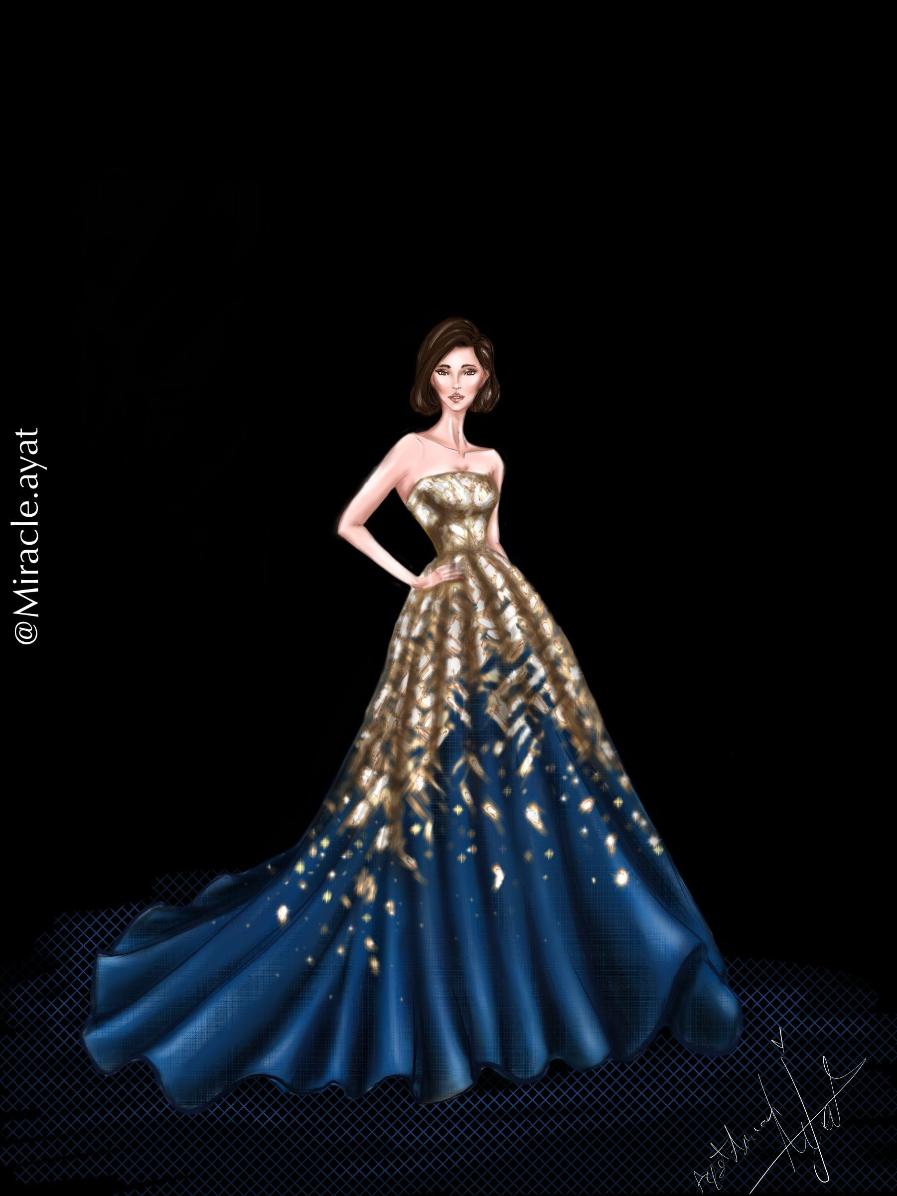 Rami Al Ali Haute Couture Aw18 19 Collection Illustrated By Ayat Strapless Dress Formal Fashion Illustration Fashion