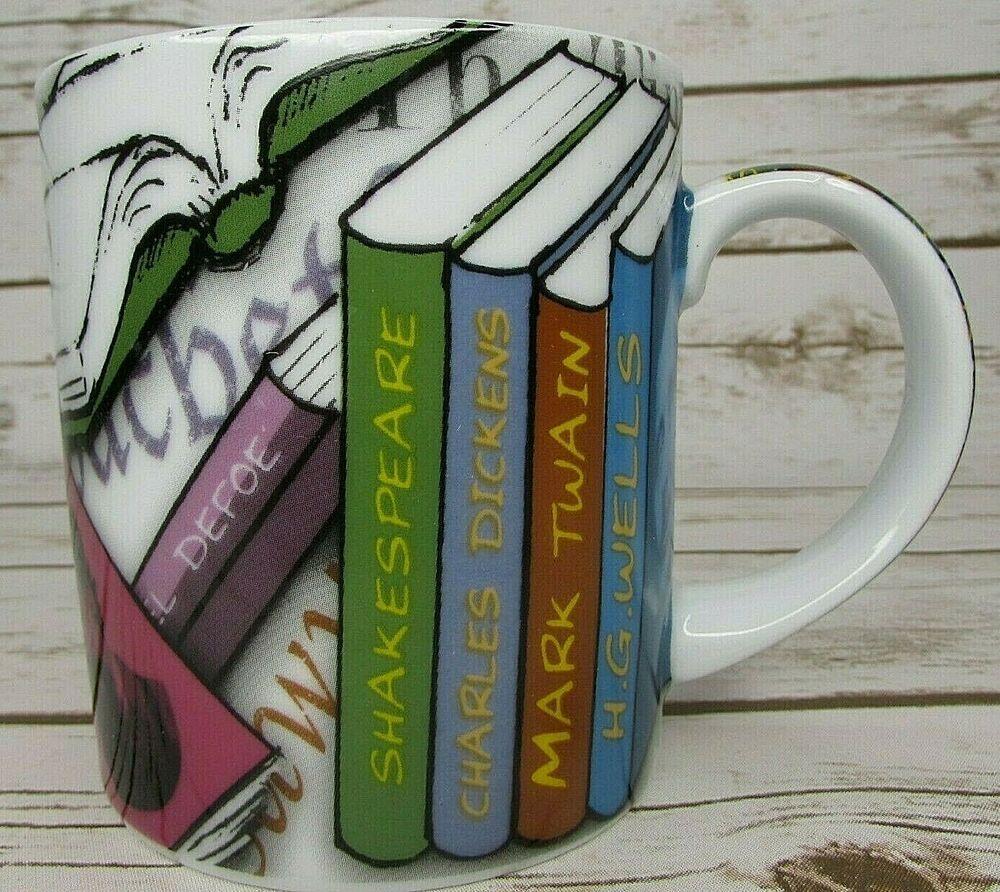 Book Lover Paul Cardew Novel Tea Coffee Mug Famous Authors