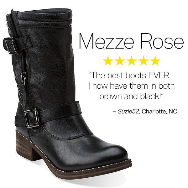 Customer Mezze Rose Biker Boots Favorites Women s Clarks dOCqPd 3806811d64bc5