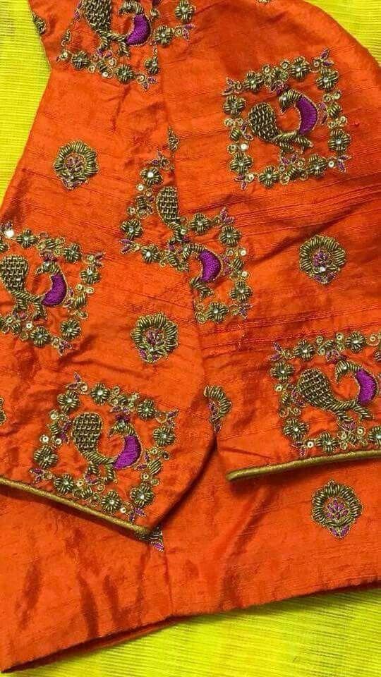 Pin de suku samram en saree\'s   Pinterest   Sumo, Seda y Bordado