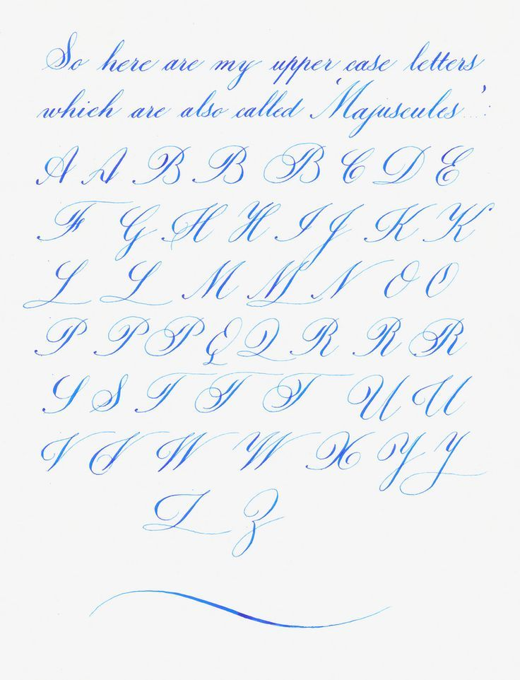 Beautiful Handwriting Letter H My Copperplateish