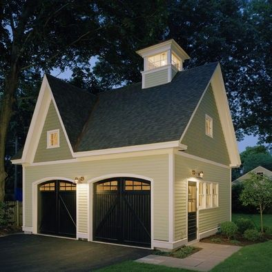 Detached Garage Carriage House Garage Garage Plans Detached Black Garage Doors