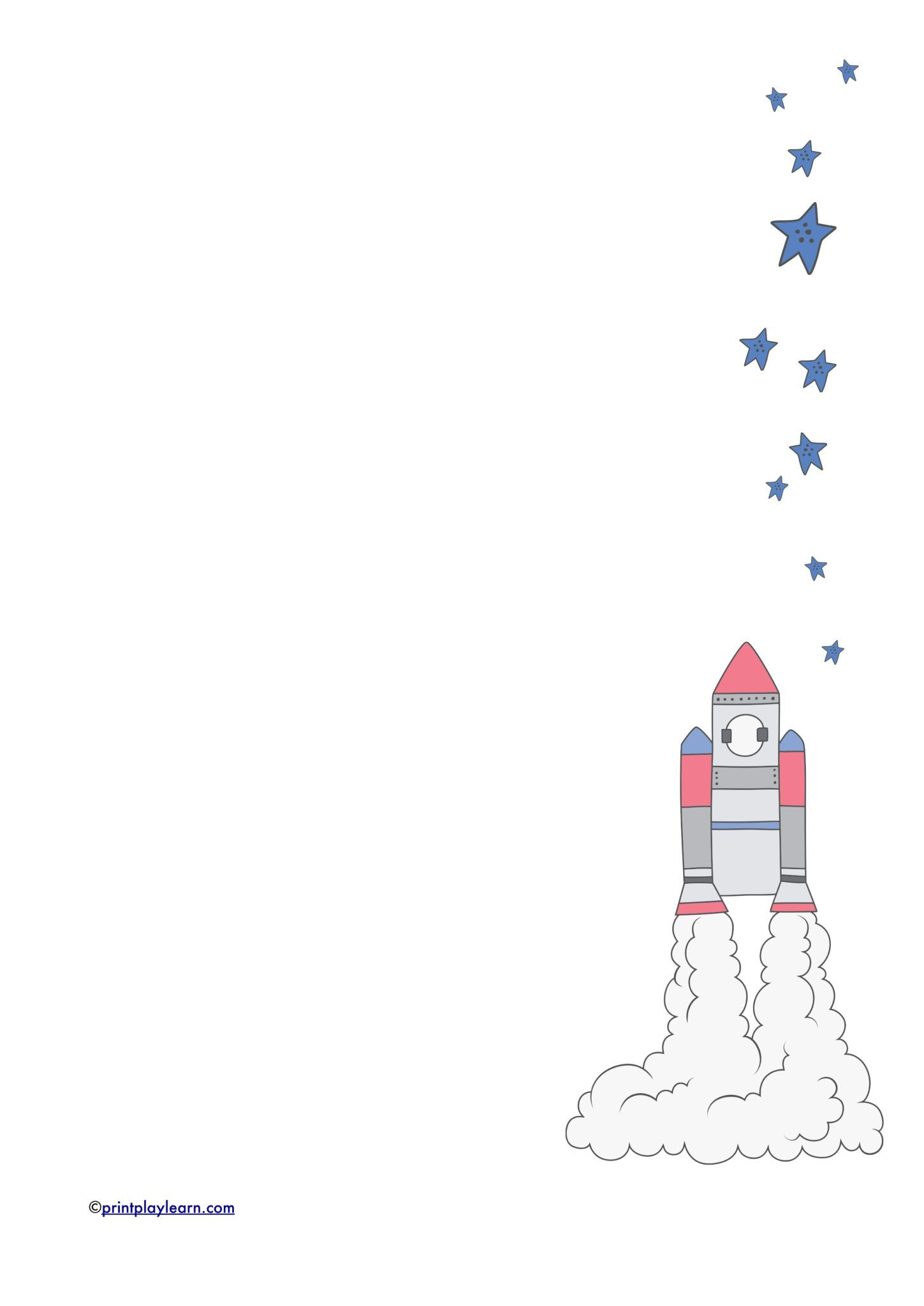 Rocket Writing Paper Plain Lined Printable Teaching Resources Print Play Learn Borders For Paper Writing Paper Printable Teaching Resources [ 2048 x 1449 Pixel ]