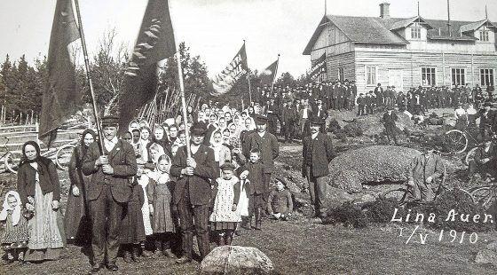 Vappujuhla Laitilan Kaivolassa 1. toukokuuta 1910.